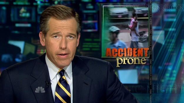 Brian Williams accident prone