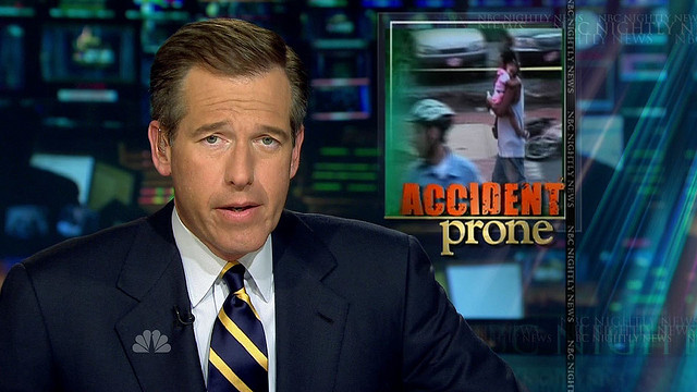 Brian Williams accident prone