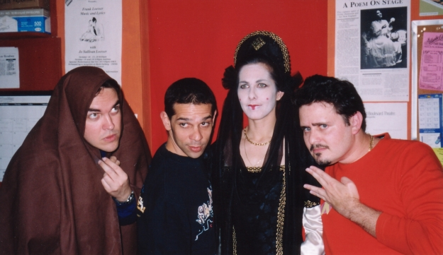 From left to right: Me, David Hernandez, Cinda Vivanco & Barry Weinberger at Punch 59, May 1999.