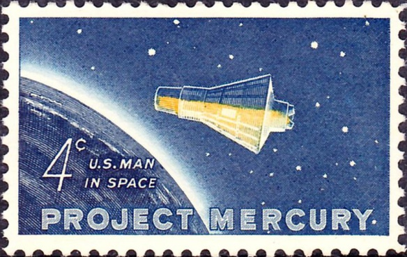 """""""Project Mercury 1962 Issue-4c"""" by U.S. Post Office; via Wikimedia Commons"""