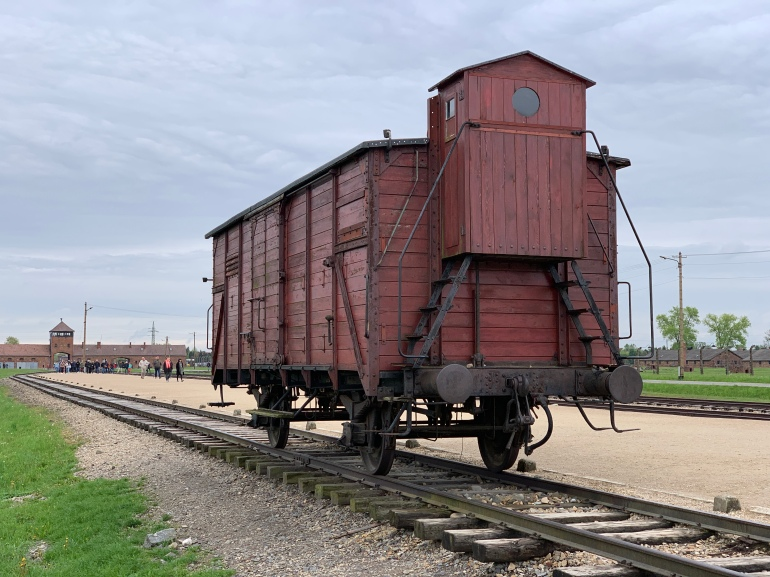 Cattle car at Birkenau, part of the Auschwitz concentration camp. Photo by Rob Archer.